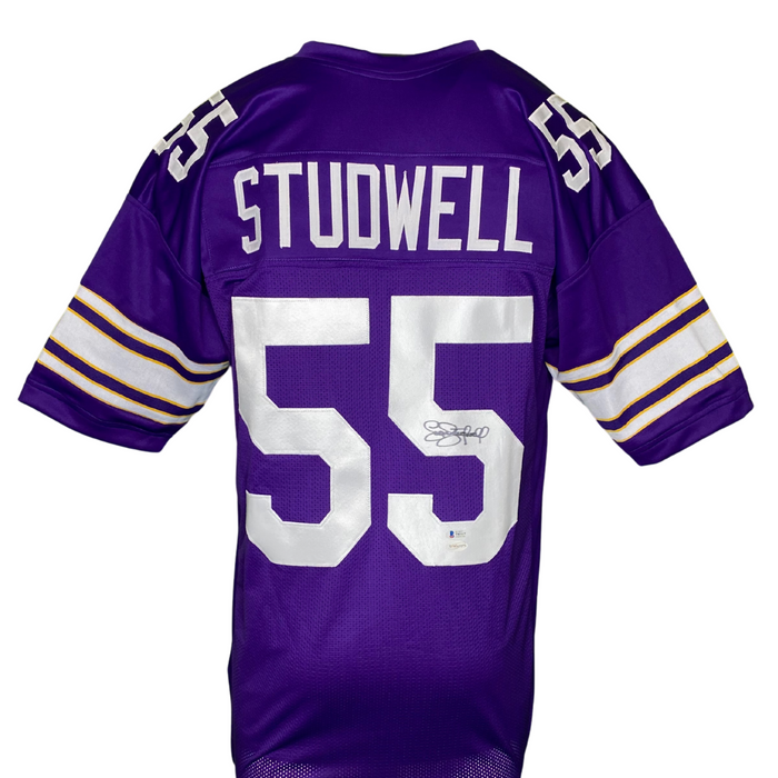Scott Studwell Signed Custom Purple Football Jersey