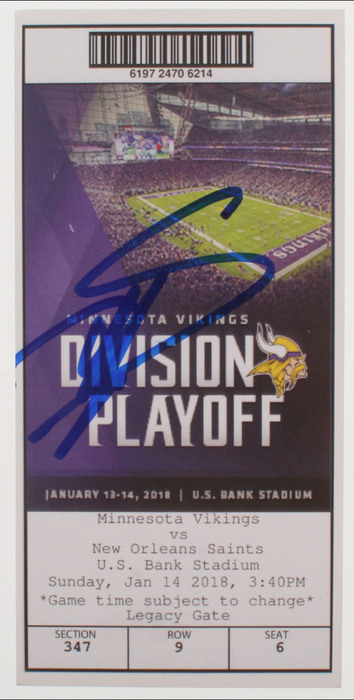 Stefon Diggs Autographed Minneapolis Miracle Replica Ticket