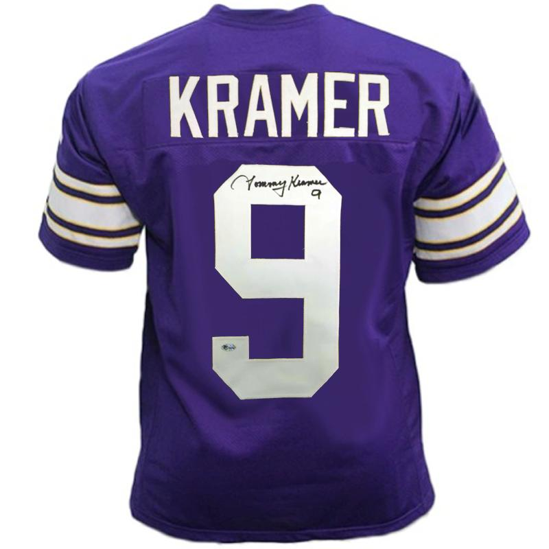 PRE-SALE: Tommy Kramer Signed Custom Throwback Purple Football Jersey