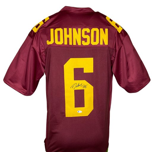 Tyler Johnson Signed Custom Maroon College Football Jersey