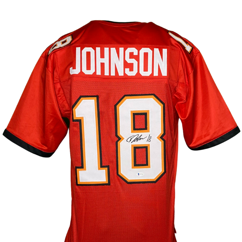 Tyler Johnson Signed Custom Red TB Football Jersey