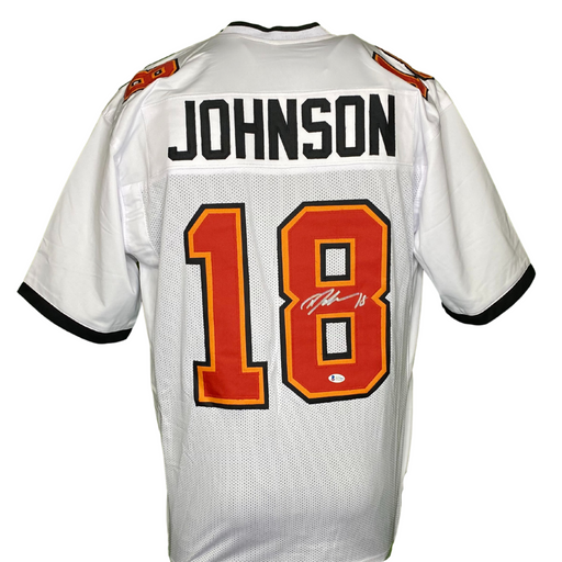 Tyler Johnson Signed Custom White TB Football Jersey