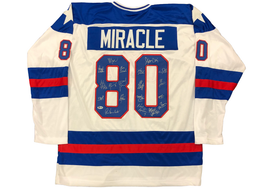 1980 USA Hockey Miracle Team Signed Custom Jersey