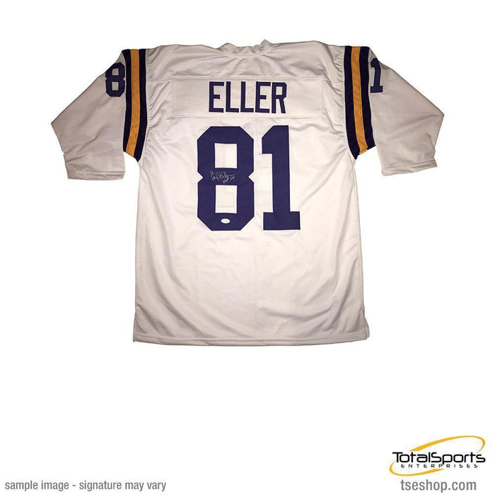 Carl Eller Signed Custom White Football Jersey