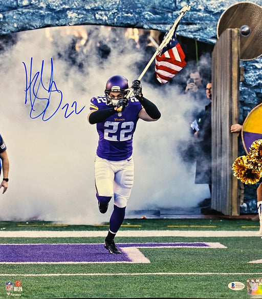 Harrison Smith Autographed Running with Flag Color 16x20 Photo