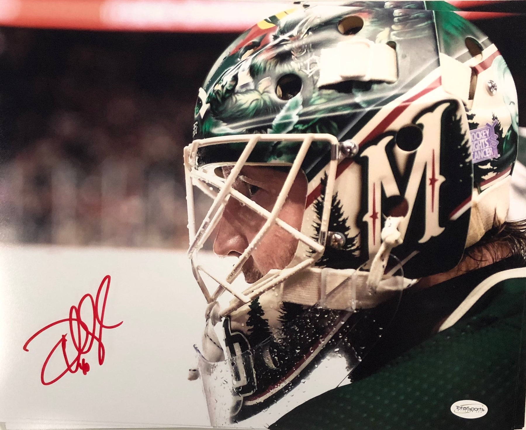 Devan Dubnyk Signed Close Up Mask 11x14 Photo