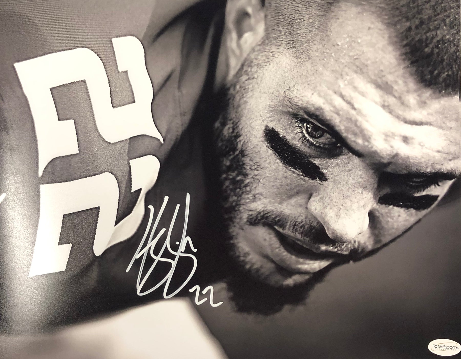 Harrison Smith Autographed Black and White Close Up 11x14 Photo