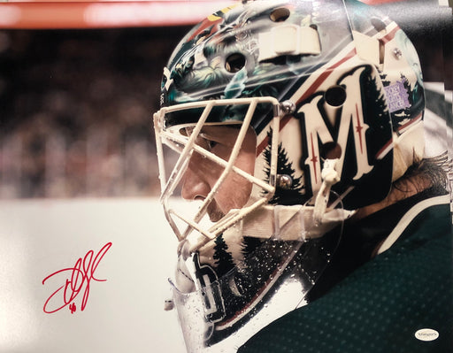 Devan Dubnyk Signed Close Up Mask 16 x 20 Photo