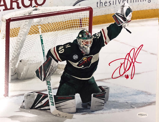 Devan Dubnyk Signed Goal Save 11x14 Photo