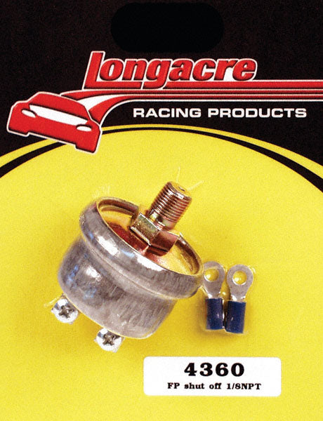 Longacre Low Oil Pressure Ignition Or Electric Fuel Pump Shutoff Switch