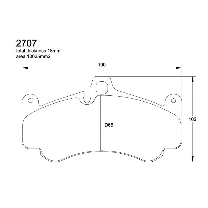 Pagid U-2707 Black Racing Pad - RS14 Compound