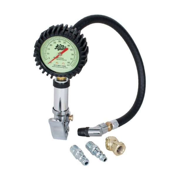"Joes Racing Products Quick Fill Tire Inflator w/ 2.5"" Gauge - 0-60 PSI"