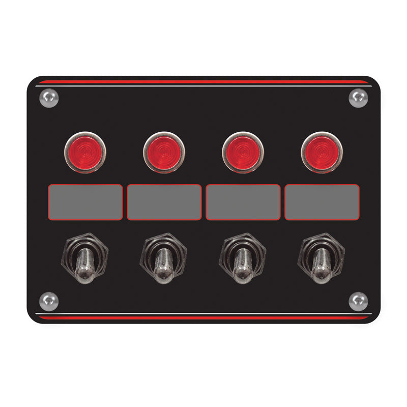 Longacre Accessory Switch Panel With Pilot Lights