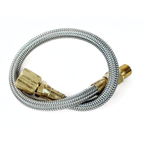 Longacre Stainless Steel Braided Gauge Line - 2 Feet
