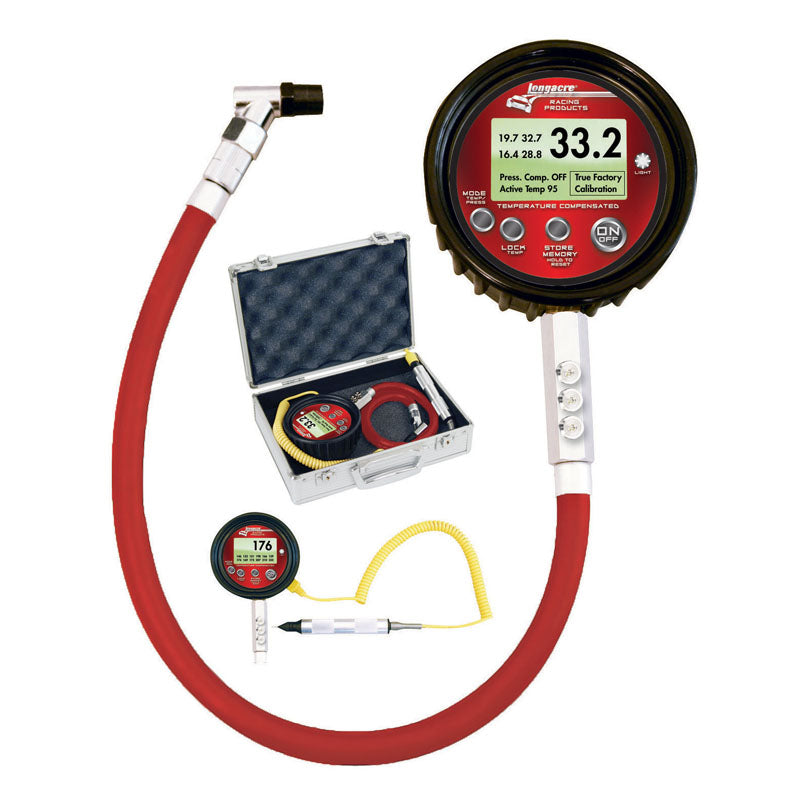 Longacre Temperature Compensated Digital Tire Gauge W/ Pyrometer
