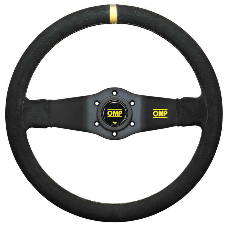 OMP Rally Steering Wheel - Black Suede
