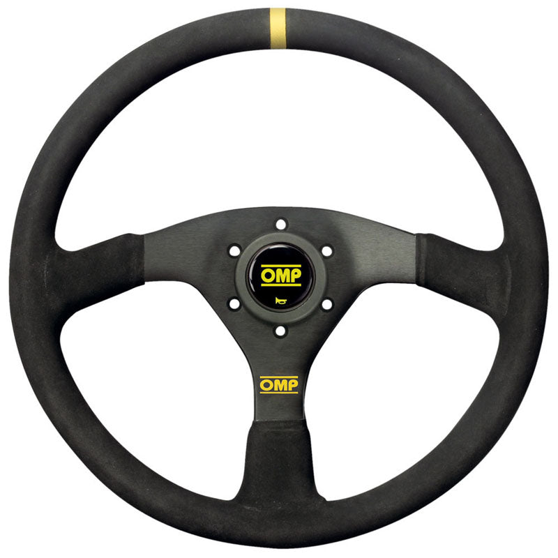 OMP Velocita 380 Steering Wheel - Black Suede