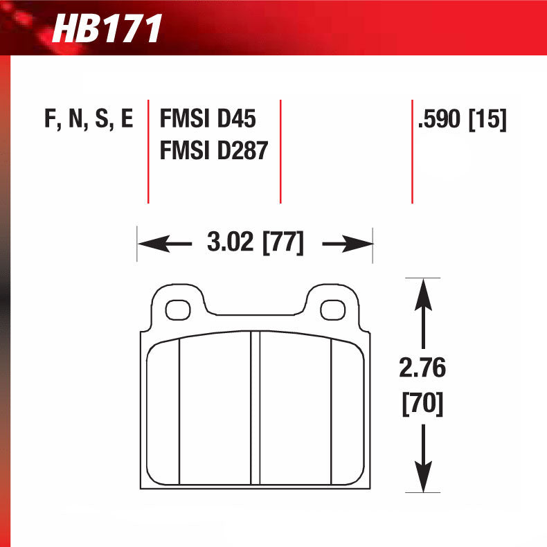 Hawk HB171S.590 Racing Pad - HT-10 Compound