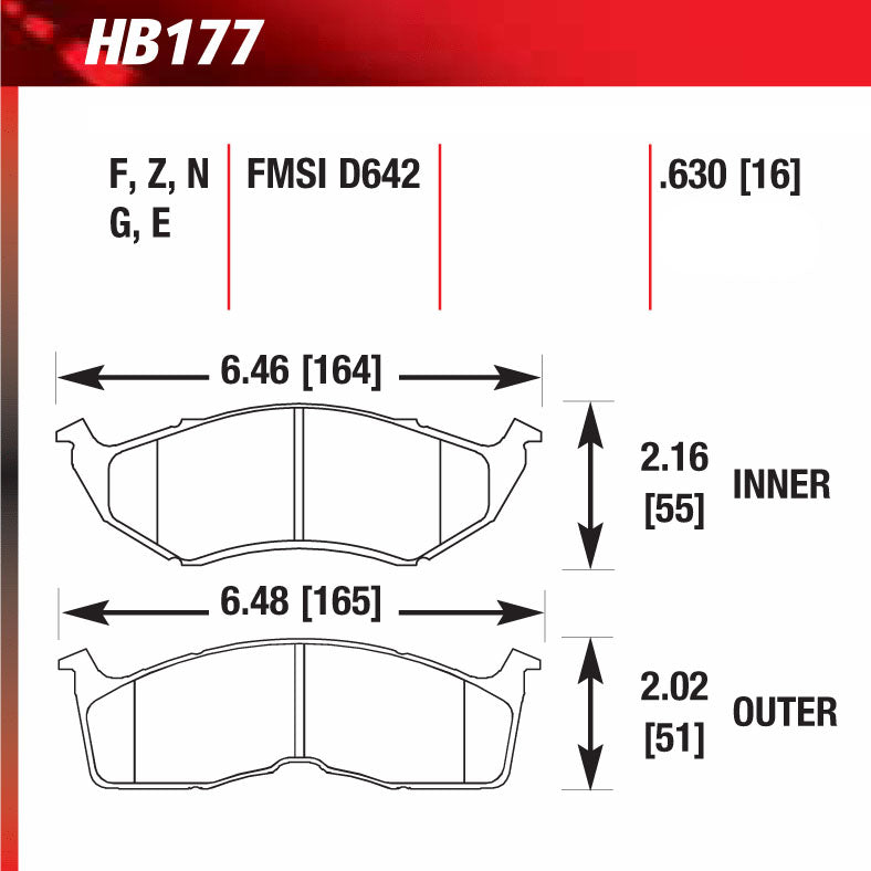 Hawk HB177G.630 Racing Pad - DTC-60 Compound