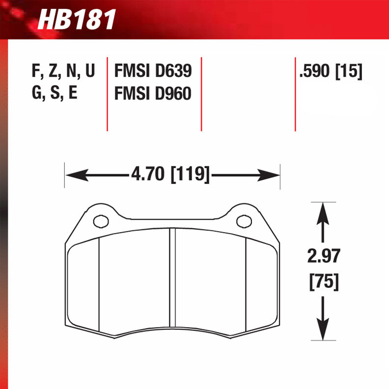 Hawk HB181S.590 Racing Pad - HT-10 Compound