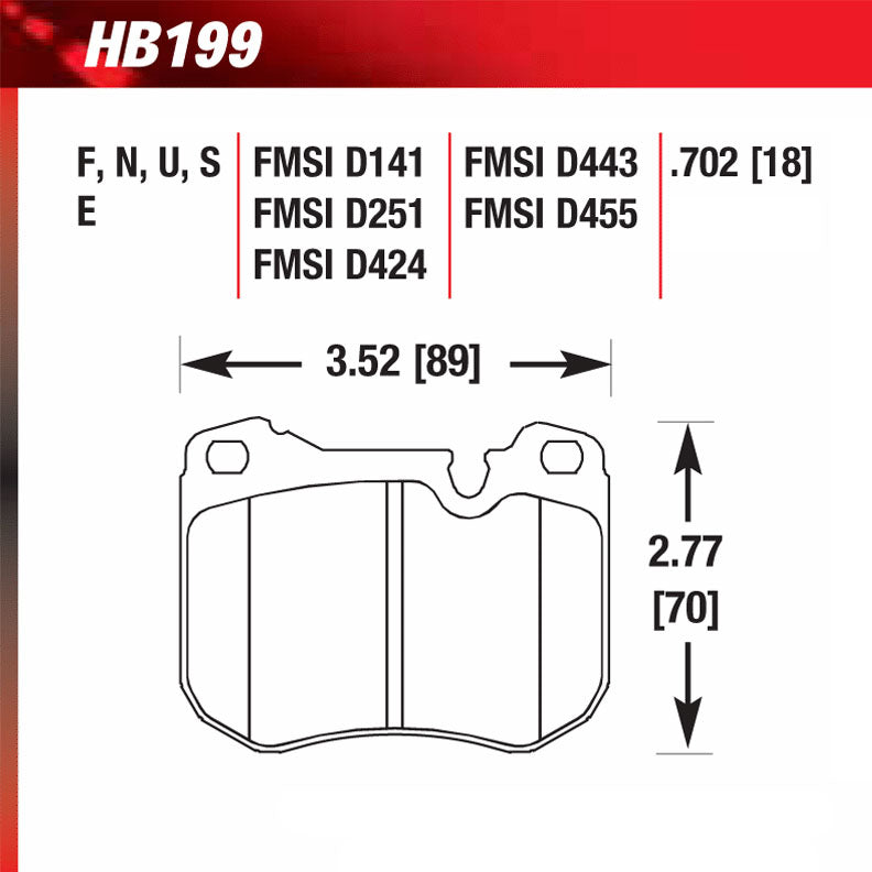 Hawk HB199G.702 Racing Pad - DTC-60 Compound