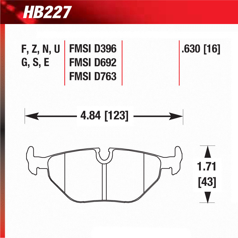 Hawk HB227N.630 Performance Pad - HP Plus Compound