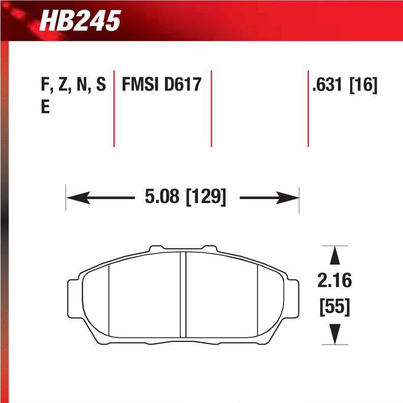 Hawk HB245S.631 Racing Pad - HT-10 Compound