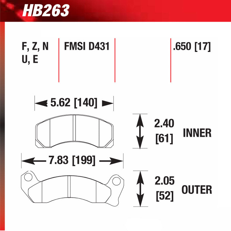 Hawk HB263F.650 Street Performance Pad - HPS Compound