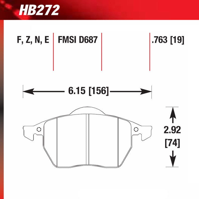 Hawk HB272E.763 Racing Pad - Blue Compound