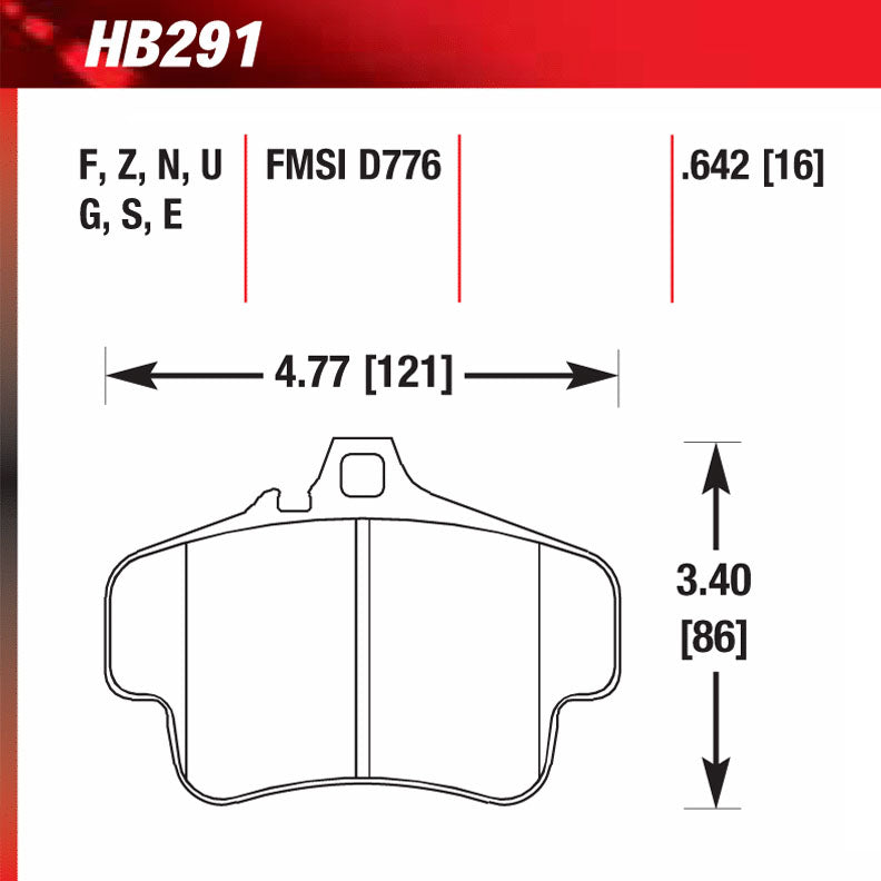 Hawk HB291G.642 Racing Pad - DTC-60 Compound