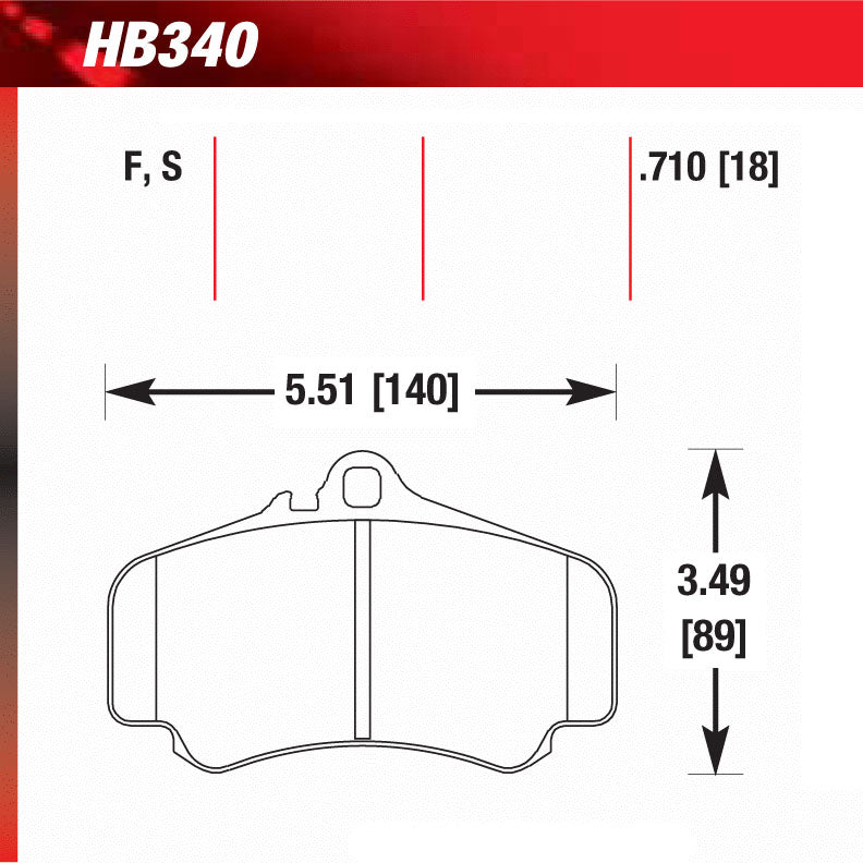 Hawk HB340S.710 Racing Pad - HT-10 Compound