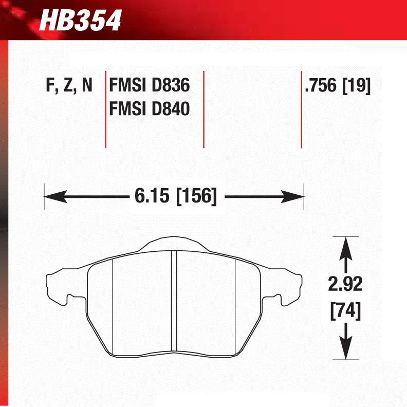 Hawk HB354N.756 Performance Pad - HP Plus Compound