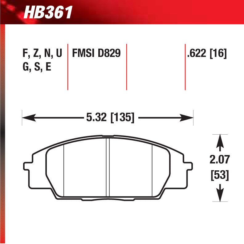 Hawk HB361W.622 Racing Pad - DTC-30 Compound
