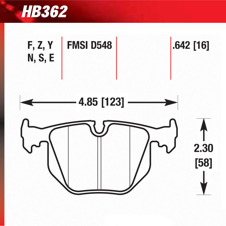Hawk HB362S.642 Racing Pad - HT-10 Compound
