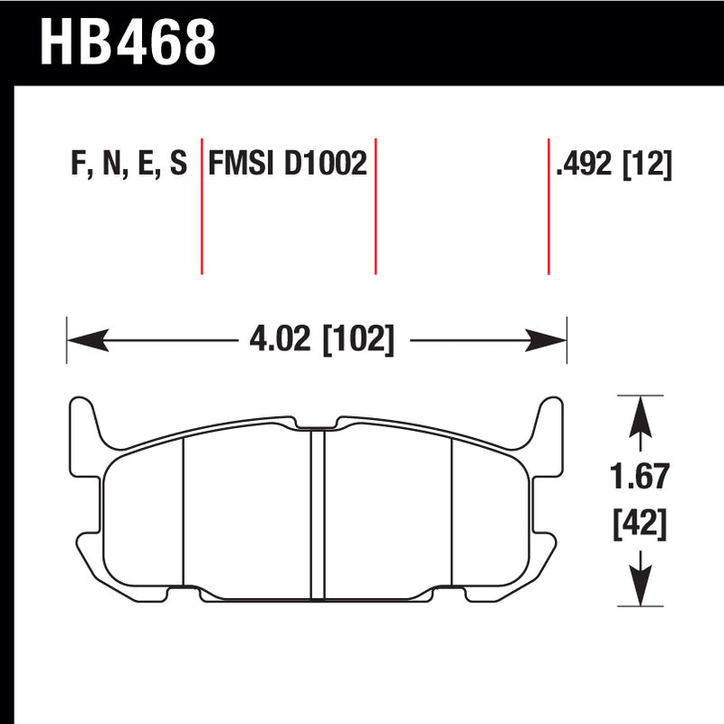Hawk HB468S.492 Racing Pad - HT-10 Compound