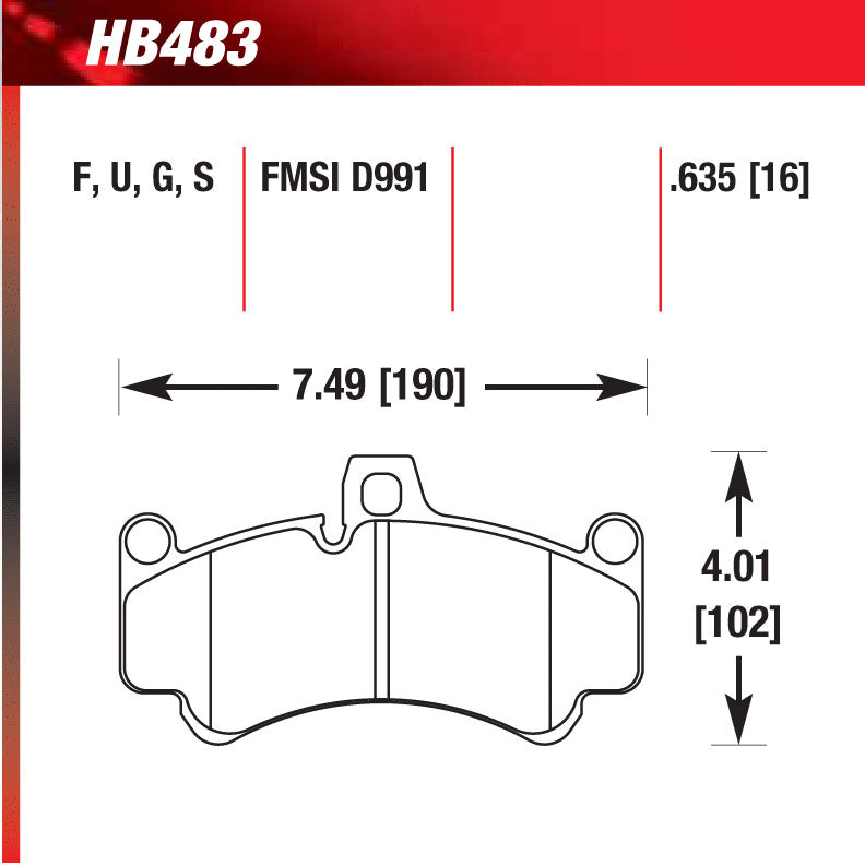 Hawk HB483G.635 Racing Pad - DTC-60 Compound