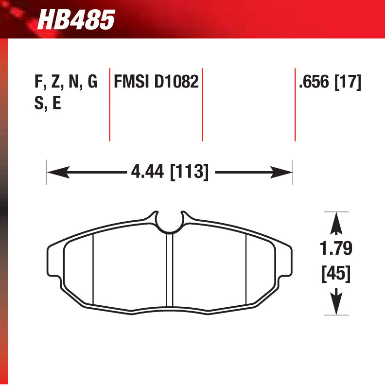 Hawk HB485N.656 Performance Pad - HP Plus Compound