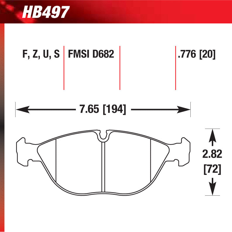 Hawk HB497U.776 Racing Pad - DTC-70 Compound