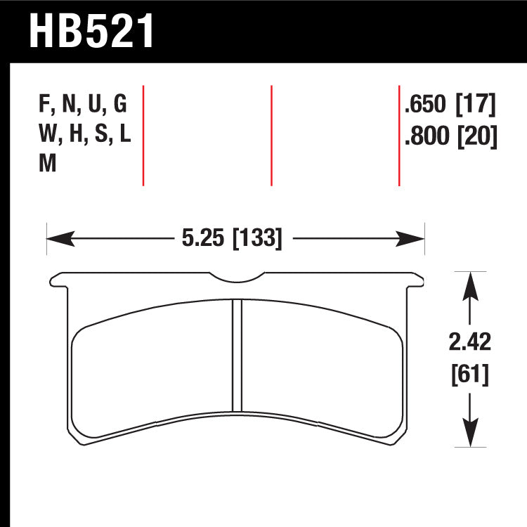 Hawk HB521N.800 Performance Pad - HP Plus Compound
