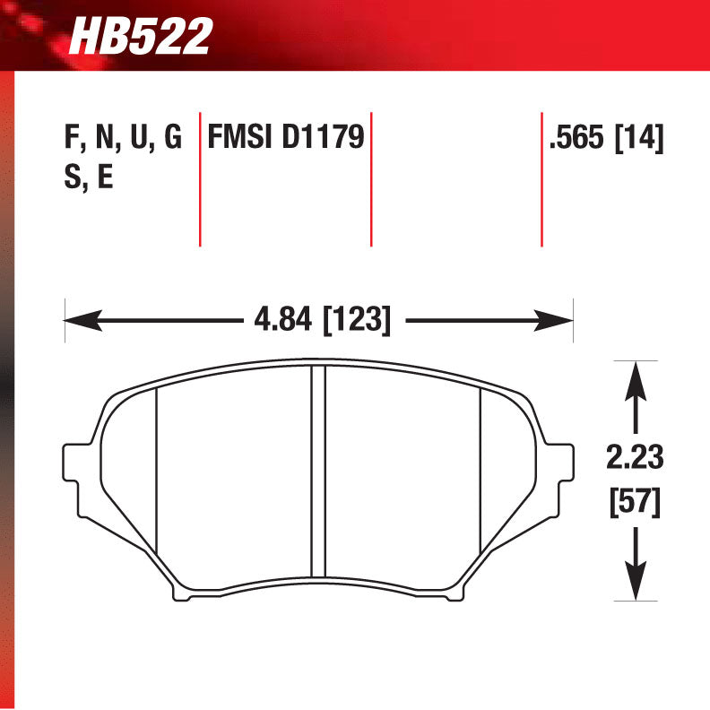 Hawk HB522G.565 Racing Pad - DTC-60 Compound