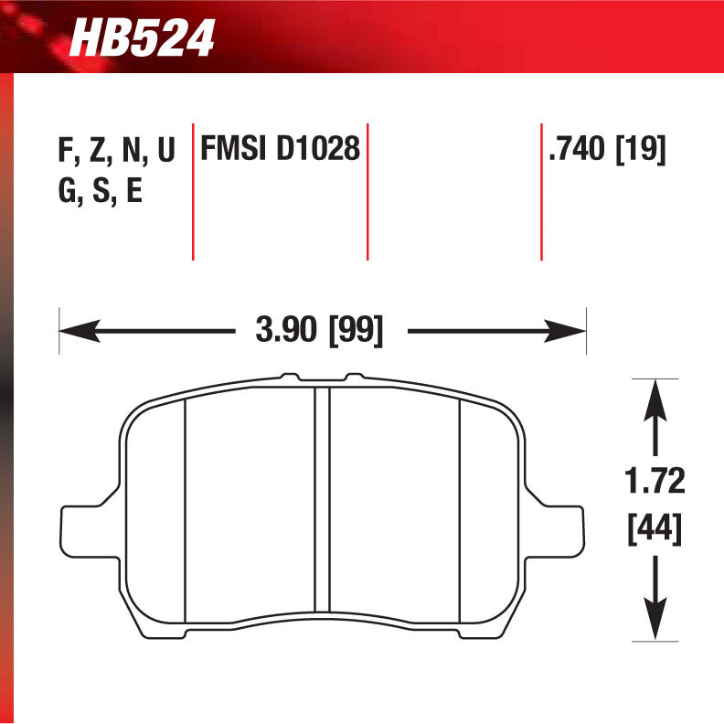 Hawk HB524S.740 Racing Pad - HT-10 Compound