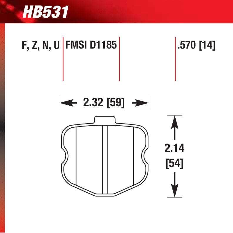 Hawk HB531N.570 Performance Pad - HP Plus Compound