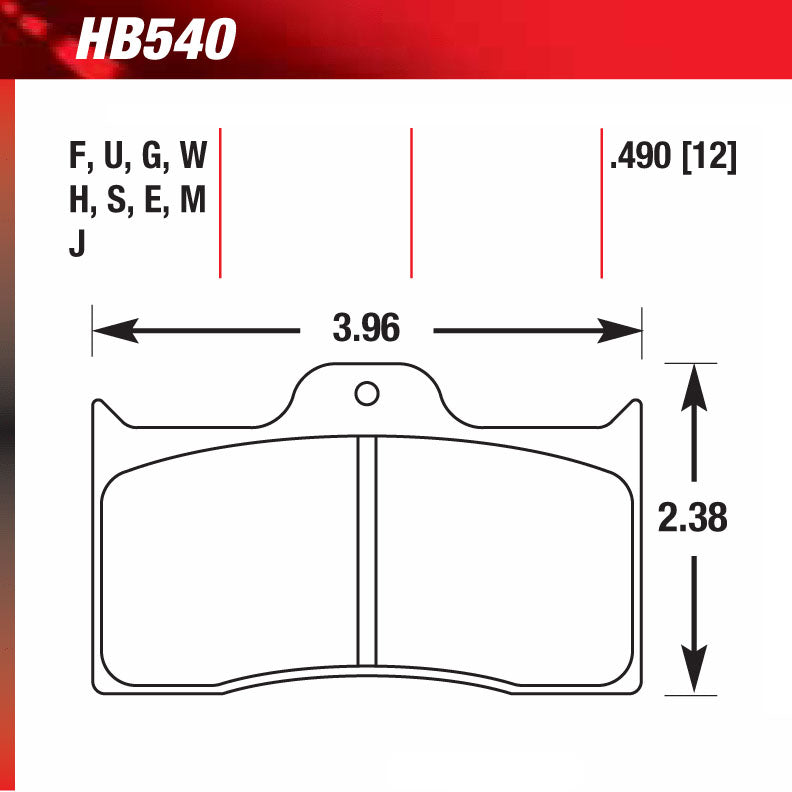 Hawk HB540G.490 Racing Pad - DTC-60 Compound