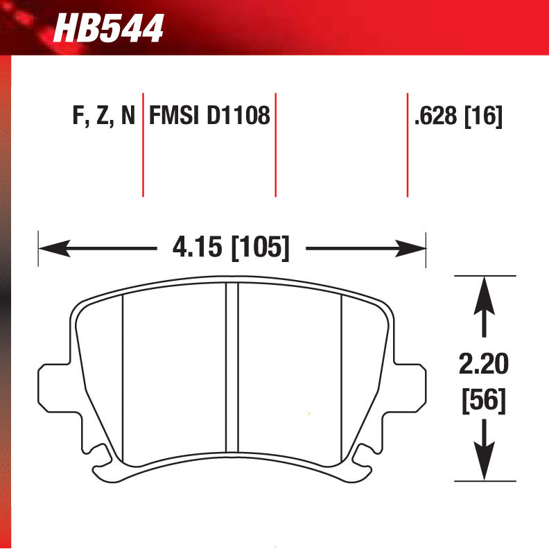 Hawk HB544S.628 Racing Pad - HT-10 Compound