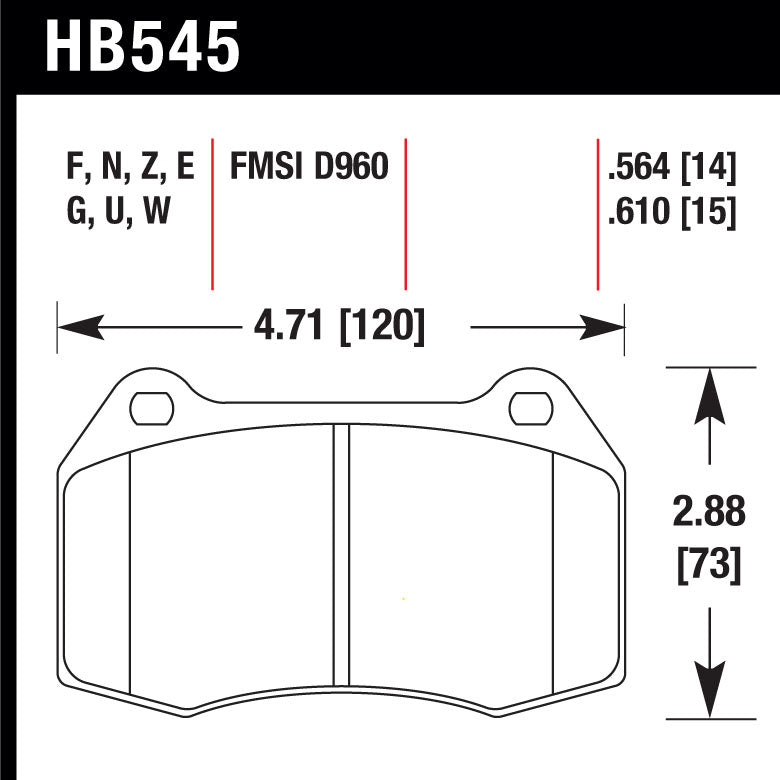 Hawk HB545F.564 Street Performance Pad - HPS Compound