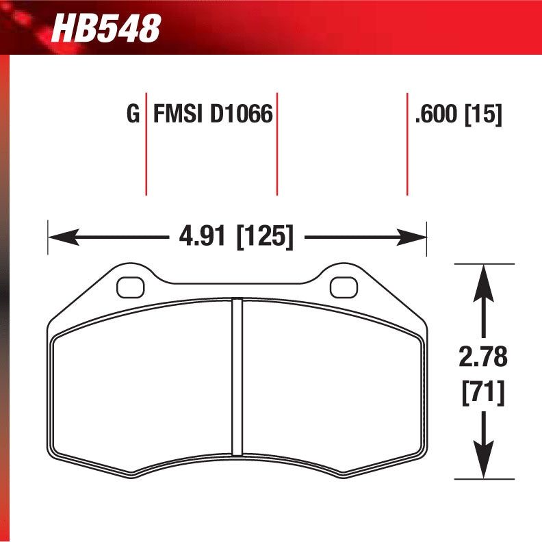 Hawk HB548F.590 Street Performance Pad - HPS Compound