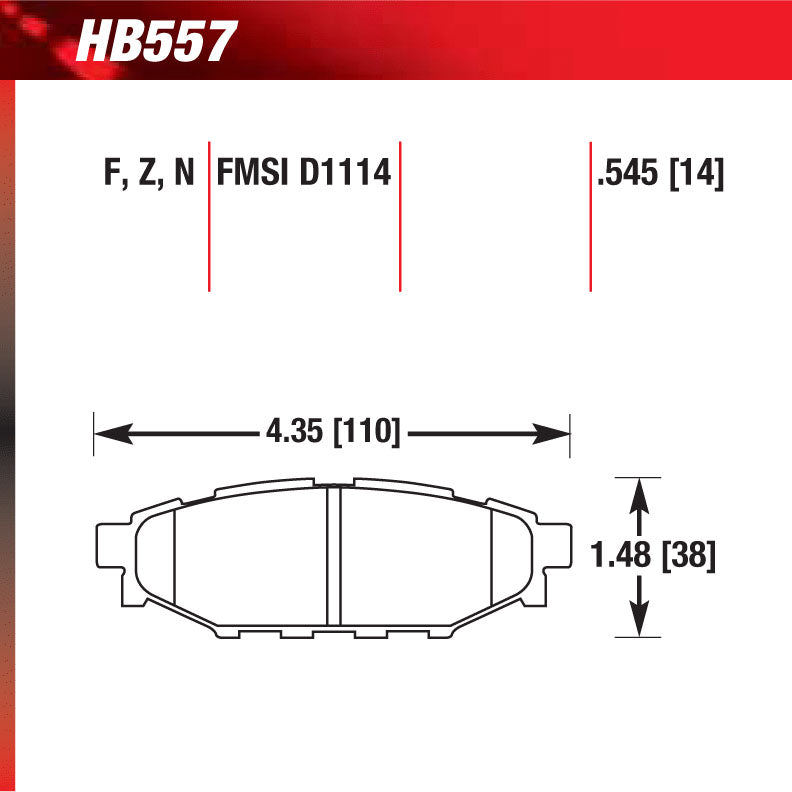 Hawk HB557F.545 Street Performance Pad - HPS Compound