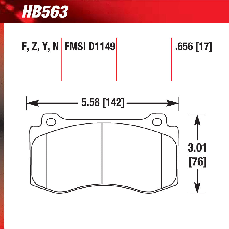 Hawk HB563N.656 Performance Pad - HP Plus Compound