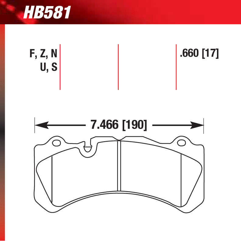 Hawk HB581U.660 Racing Pad - DTC-70 Compound
