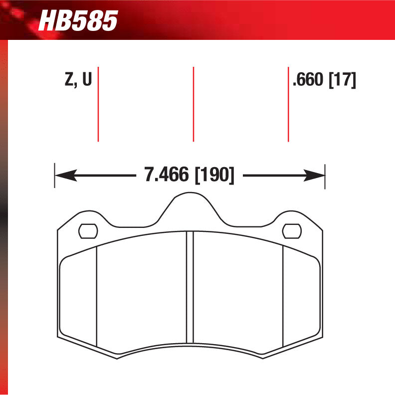 Hawk HB585U.660 Racing Pad - DTC-70 Compound